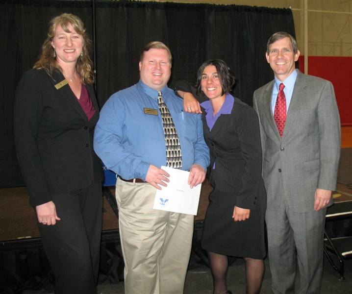 Brian Receiving the 2010 President's Volunteer Service Award